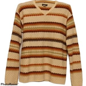 J. Crew Sweater - 100% Wool - Colorful Stripes